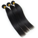"16"" 18"" 20'"" 3 bundles Straight 100% human hair Brazilian virgin Hair - Remy Dynasty"