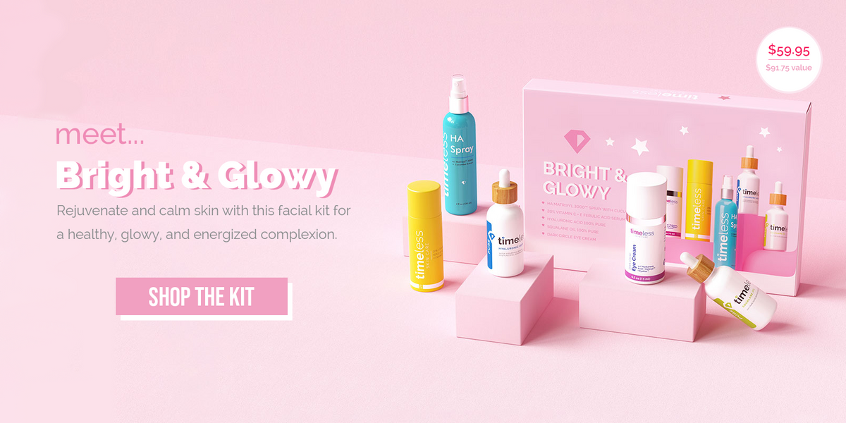 bright and glowy facial kit timeless skin care