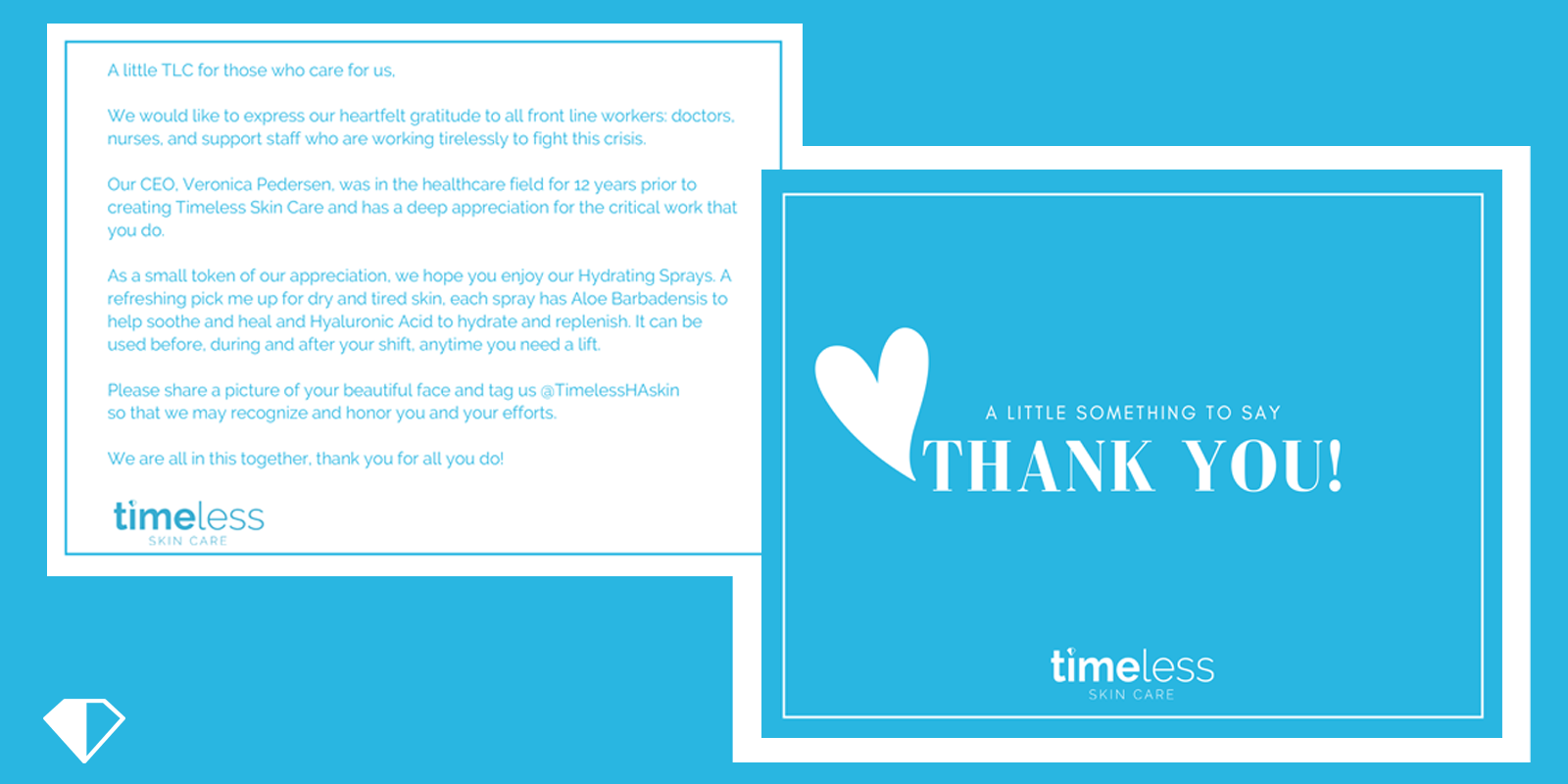 thank you from timeless skin care