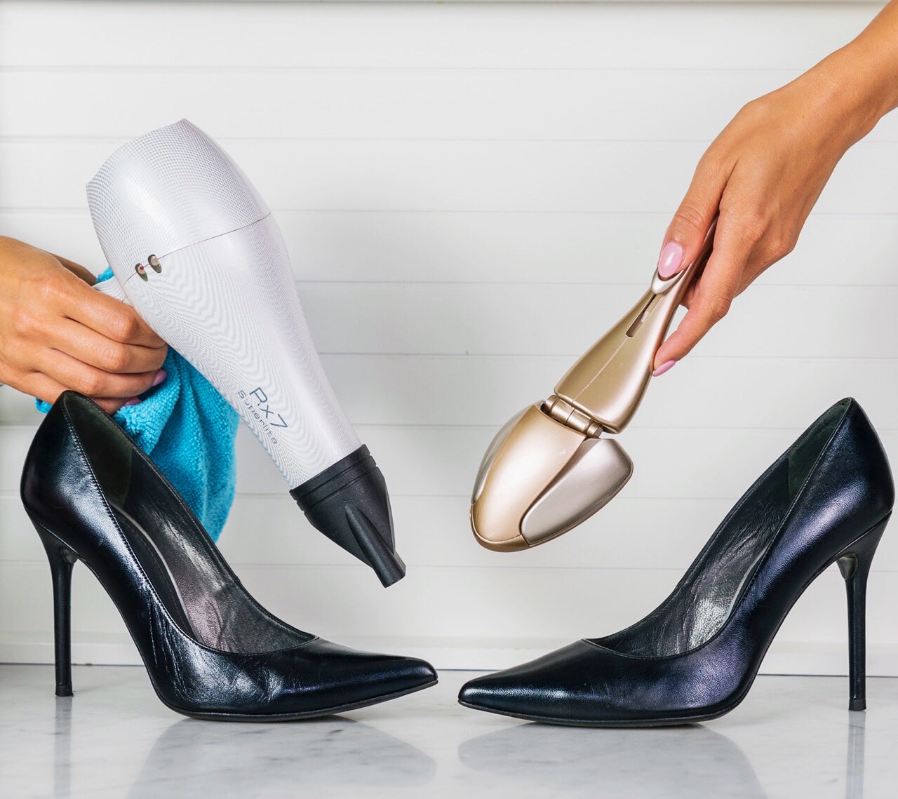 Forme shoe shapers vs. hairdryer