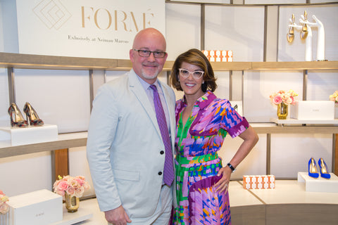 maureen stockton and Chris James Neiman Marcus and Formé ShoeShaper