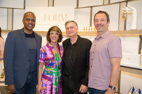 Kevin Bethune and Maureen Stockton and David Strom and Bob Tucker at Formé ShoeShapers Neiman Marcus Event