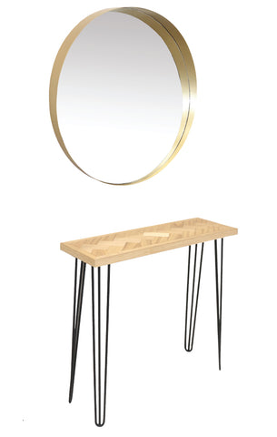 Nash workstation (mirror & bench) - spacesalonfurniture