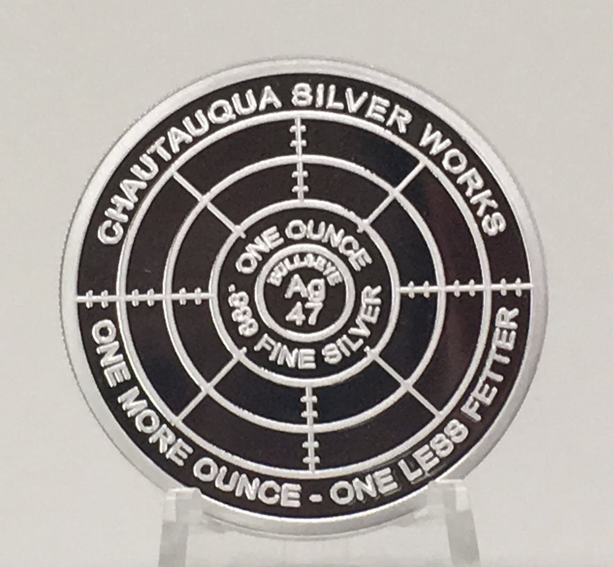 UNCLE VAM 1 OZ PROOF LIKE//LIMITED EDITION OF 200//CHAUTAUQUA SILVER WORKS//#/'d