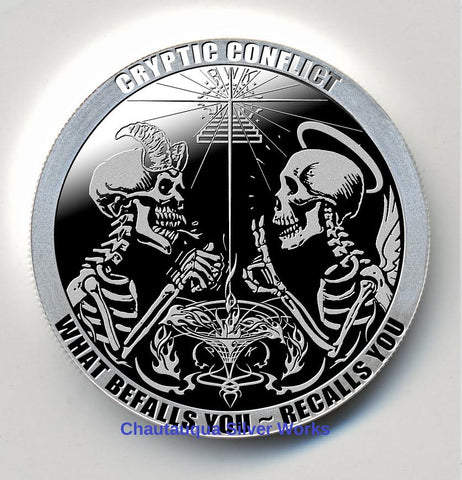 Crazy Money 2013 What/'s In Your Pocket Skull 1 oz Silver Round