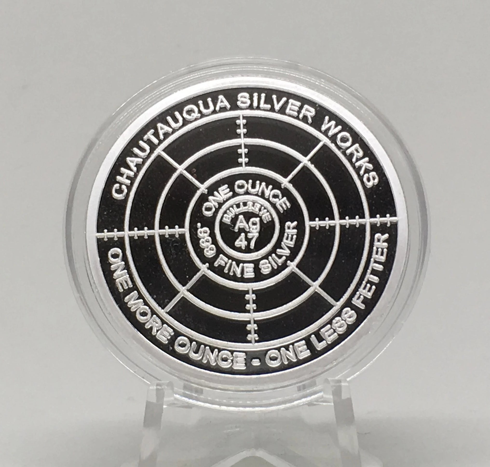 CREATE 1 OZ PROOF LIKE ROUND//CHAUTAUQUA SILVER WORKS//THROUGH THAT DOOR SERIES