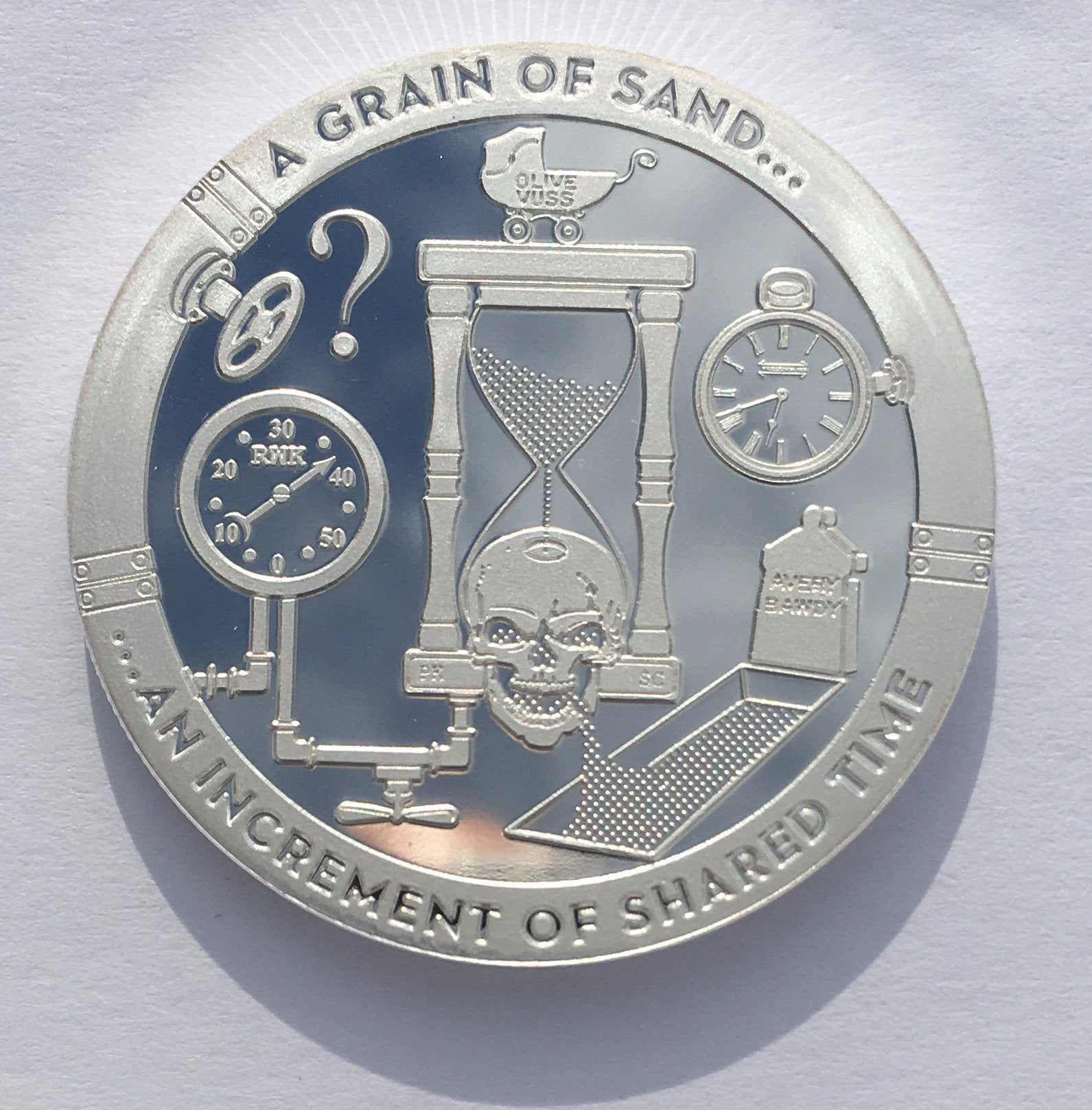 Series A Grain Of Sand 1 oz .999 Silver US Proof-Like Capsuled Round T.I.M.E