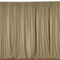 10 ft. Wide X 8 ft. Tall - Champagne Curtain Polyester Backdrop High Quality Drapes with Rod Pocket
