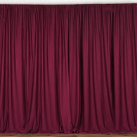 10 ft. Wide X 8 ft. Tall - Cranberry Curtain Polyester Backdrop High Quality Drapes with Rod Pocket