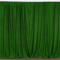 10 ft. Wide X 8 ft. Tall Emerald Green Curtain Polyester Backdrop High Quality Drape with Rod Pocket