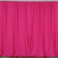 10 ft. Wide X 8 ft. Tall - Fucshia - Curtain Polyester Backdrop High Quality Drape with Rod Pocket