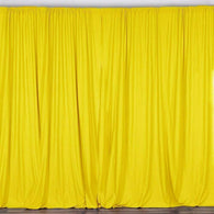 10 ft. Wide X 8 ft. Tall Light Yellow Curtain Polyester Backdrop High Quality Drapes with Rod Pocket