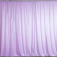 10 ft. Wide X 8 ft. Tall - Lilac - Curtain Polyester Backdrop High Quality Drapes with Rod Pocket