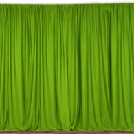10 ft. Wide X 8 ft. Tall - Lime Green - Curtain Polyester Backdrop High Quality Drapes with Rod Pocket
