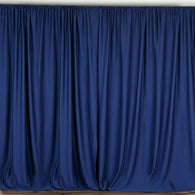 10 ft. Wide X 8 ft. Tall - Navy Blue Curtain Polyester Backdrop High Quality Drapes with Rod Pocket