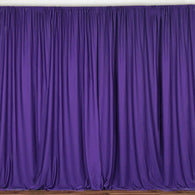 10 ft. Wide X 8 ft. Tall - Purple - Curtain Polyester Backdrop High Quality Drapes with Rod Pocket