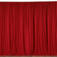 10 ft. Wide X 8 ft. Tall - Red - Curtain Polyester Backdrop High Quality Drapes with Rod Pocket