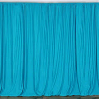 10 ft. Wide X 8 ft. Tall - Turquoise Curtain Polyester Backdrop High Quality Drapes with Rod Pocket