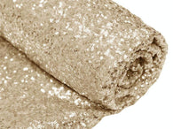 Mini Glitz Sequins - Light Gold - 2 Way Stretch Shiny Sequins Mesh Fabric Sold By The Yard