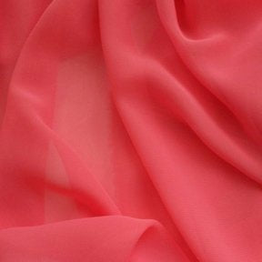 Hi Multi Chiffon Fabric - Coral - Chiffon High Quality Design Fabric Sold By The Yard 60