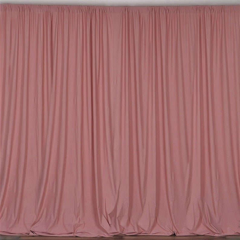 10 x 10 Ft - Dusty Rose - Curtain Polyester Backdrop Drapes Panels with Rod Pocket