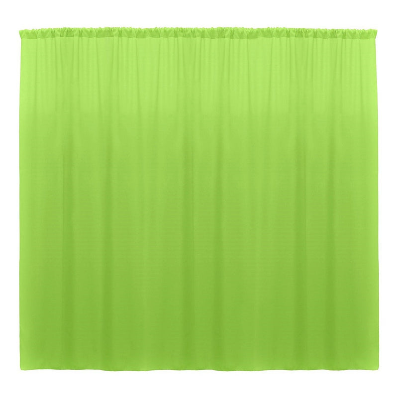 10 x 10 Ft - Lime - Curtain Polyester Backdrop Drapes Panels with Rod Pocket