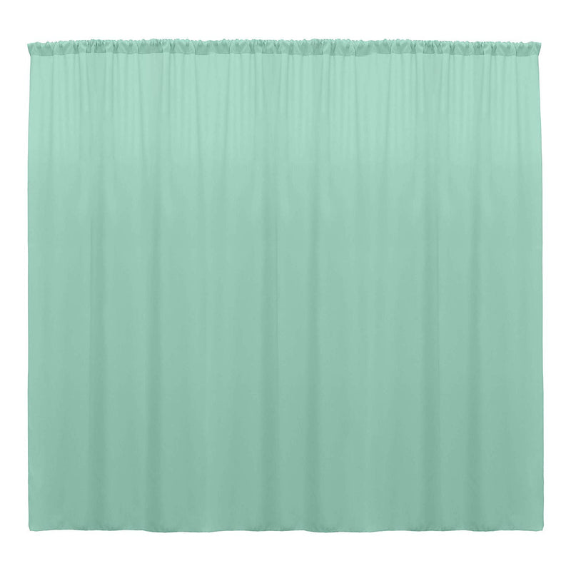 10 x 10 Ft - Mint - Curtain Polyester Backdrop Drapes Panels with Rod Pocket