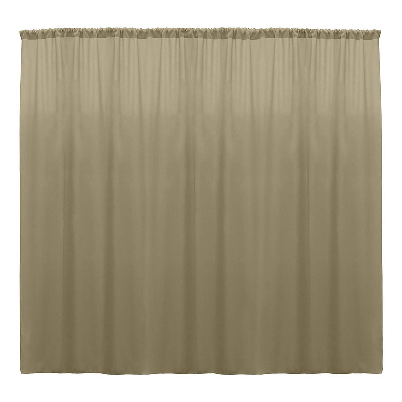 10 x 10 Ft - Taupe - Curtain Polyester Backdrop Drapes Panels with Rod Pocket