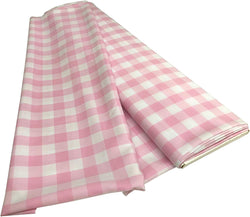 Checkered Poplin - Pink - Polyester Poplin Flat Fold Solid Color 60