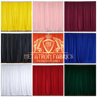 10 ft. Wide X 8 ft. Tall Curtain Polyester Backdrop High Quality Drape Rod Pocket [Pick A Color]