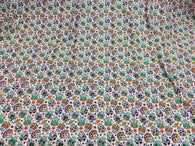 Sugar Skull Print - Lilac - Sugar Skull Day of The Dead Dia De Los Muertos Spandex Fabric By Yard
