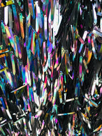 Sword Design - Black - Iridescent Sequins Fabric - Embroidery On A Mesh For  Sold By The Yard