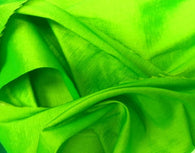 Stretch Taffeta Fabric - Lime Green - 58/60