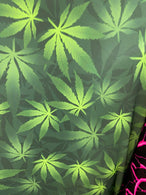 Marijuana Print Fabrics Green On Lycra Spandex Fabric Weed Print Fabric Sold By The Yard