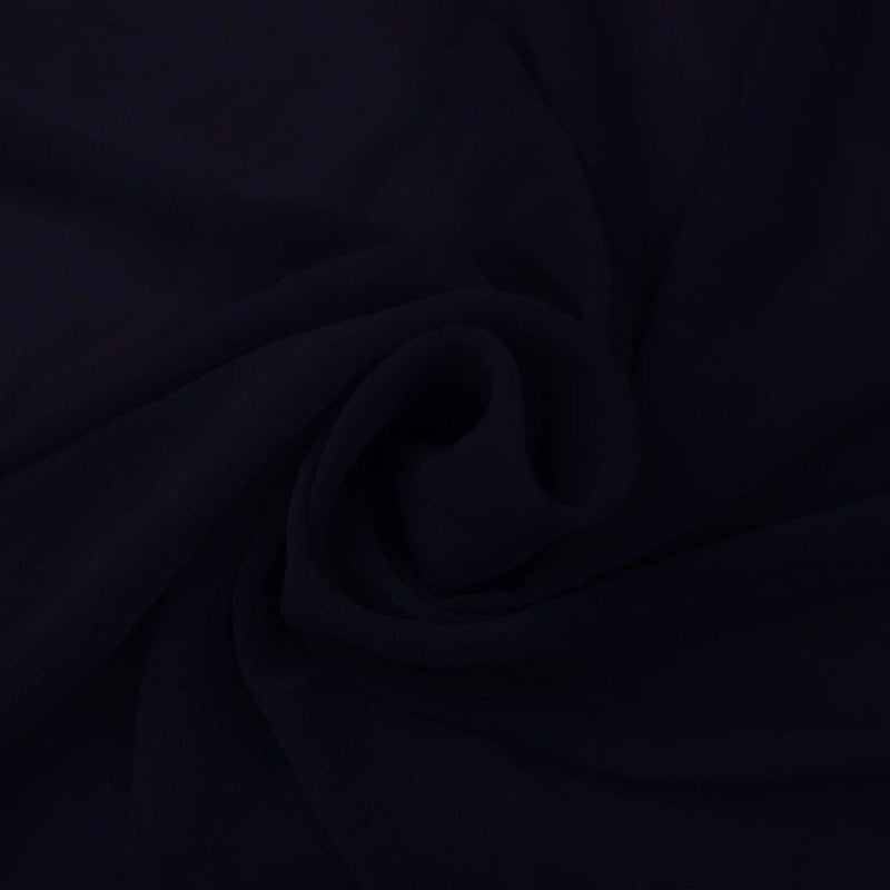 Hi Multi Chiffon Fabric - Navy Blue - Chiffon High Quality Design Fabric Sold By The Yard 60
