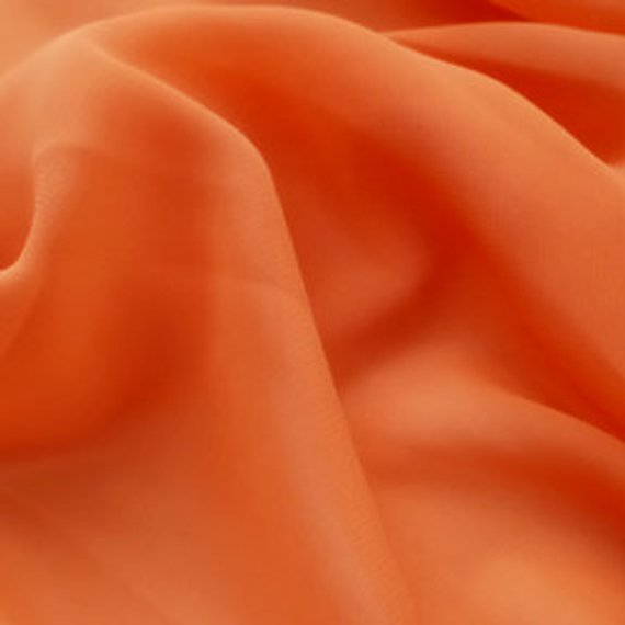 Hi Multi Chiffon Fabric - Orange - Chiffon High Quality Design Fabric Sold By The Yard 60