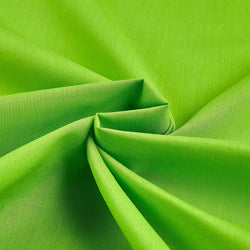 Solid Poly Cotton - Lime Green - Solid Color Fabric Broadcloth 58
