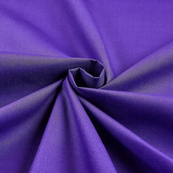 Solid Poly Cotton - Purple - Solid Color Fabric Broadcloth 58