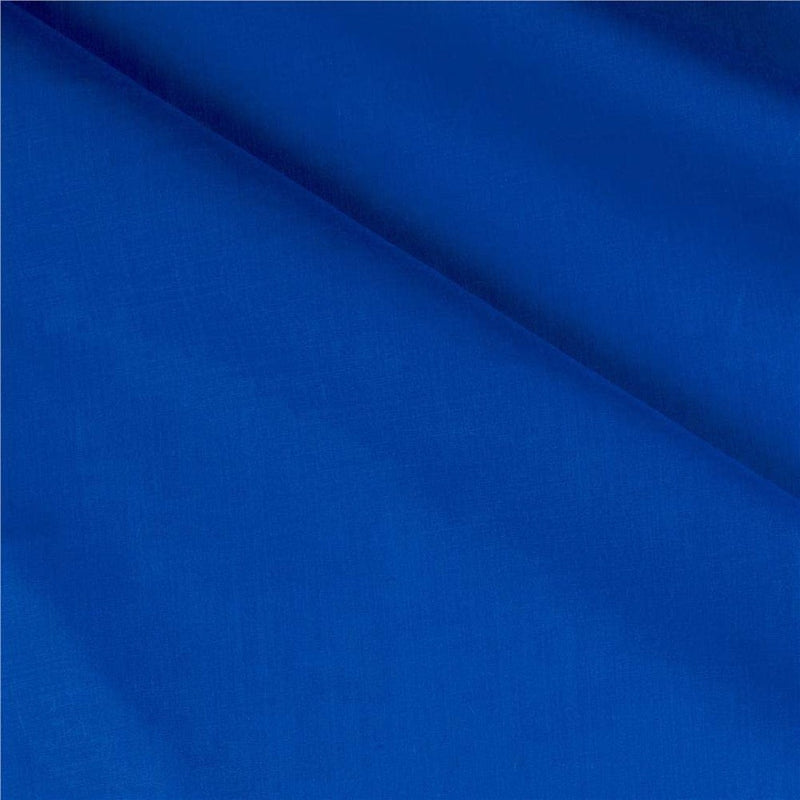 Solid Poly Cotton - Royal Blue - Solid Color Fabric Broadcloth 58