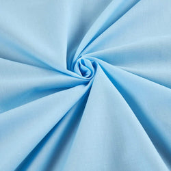 Solid Poly Cotton - Baby Blue - Solid Color Fabric Broadcloth 58