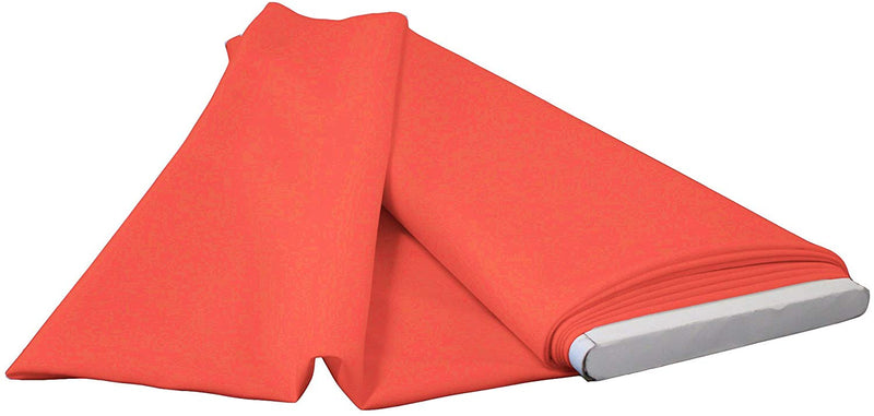 Polyester Poplin - Coral - Flat Fold Solid Color 60