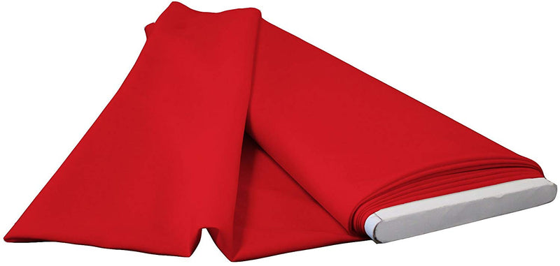 Polyester Poplin - Red - Flat Fold Solid Color 60