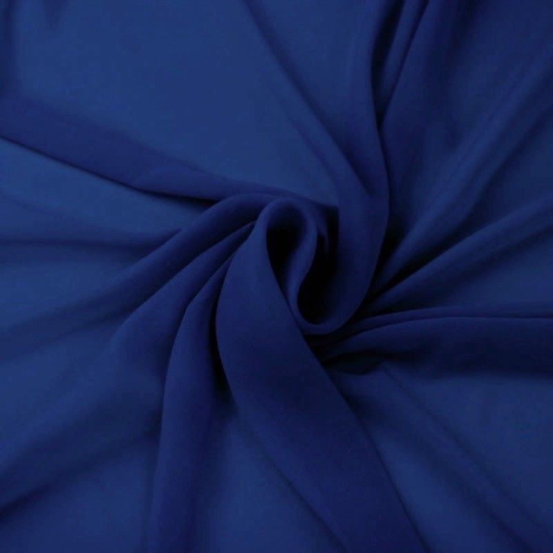 Hi Multi Chiffon Fabric - Royal Blue - Chiffon High Quality Design Fabric Sold By The Yard 60