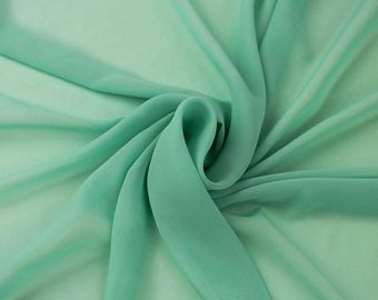 Hi Multi Chiffon Fabric - Sea Green - Chiffon High Quality Design Fabric Sold By The Yard 60