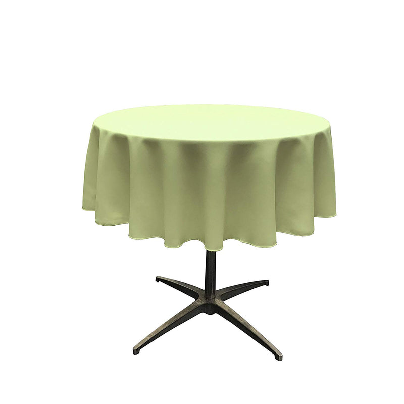 Round Linentablecloth - Sage - 51 Inch Round Banquet Polyester Cloth, Wrinkle Resist Quality