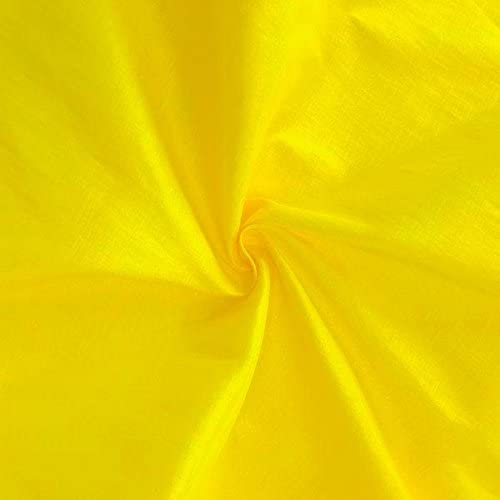 Stretch Taffeta Fabric - Yellow - 58/60