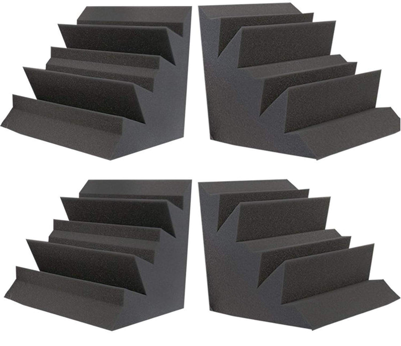 4 Pack Acoustic Foam Bass Trap Recording Studios Corner Wall 12