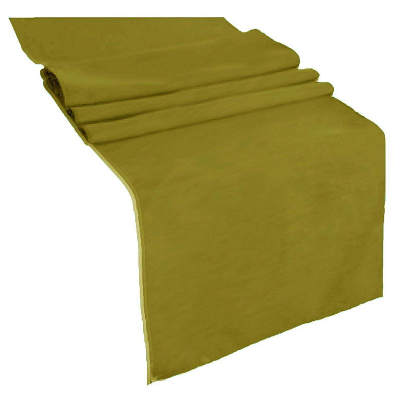 Table Runner ( Avocado ) Polyester 12x72 Inches Great Quality Tablecloth for all Occasions