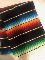 Mexican Sarape - Black - Table Runner 14