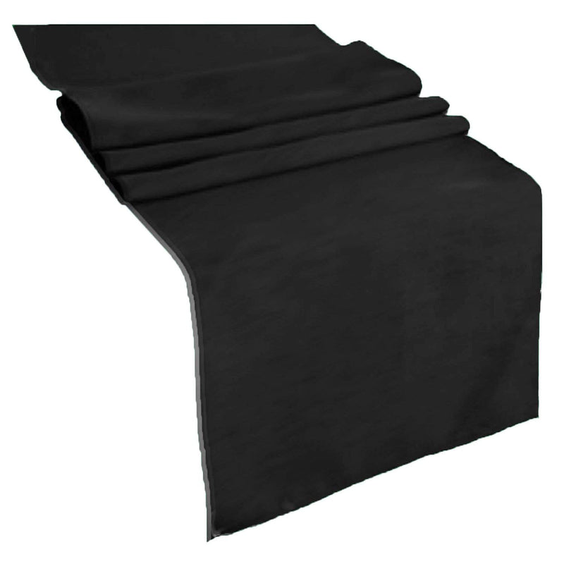 Table Runner ( Black ) Polyester 12x72 Inches Great Quality Tablecloth for all Occasions